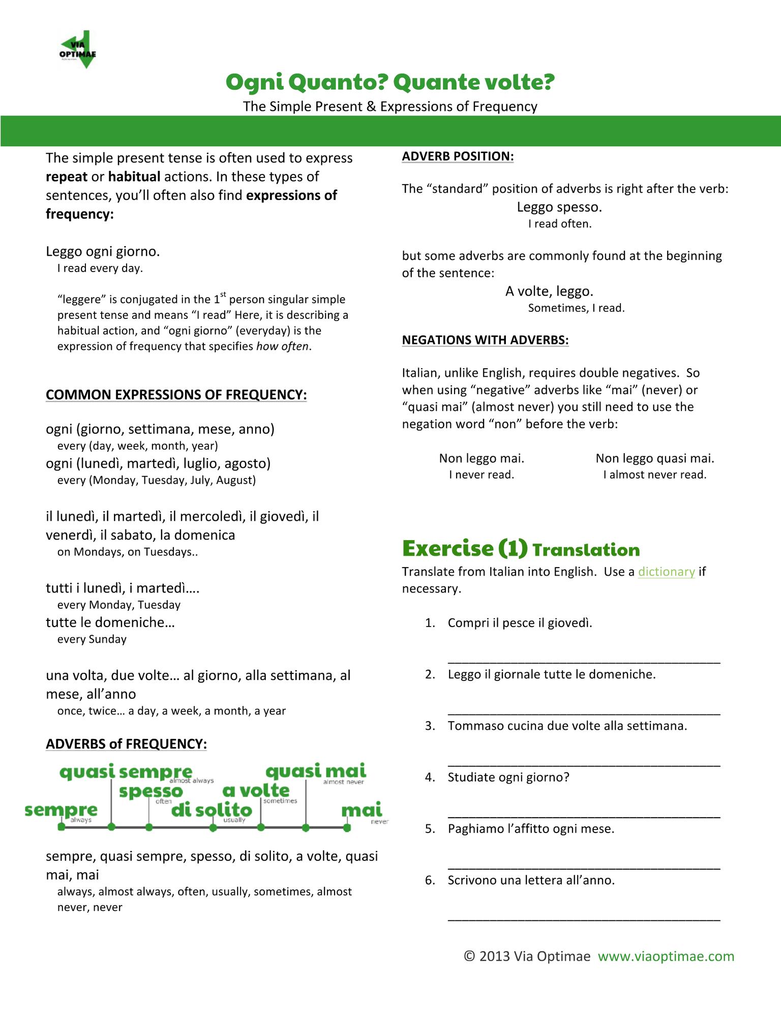 Italian Workbooks Beginner S Workbook Part One