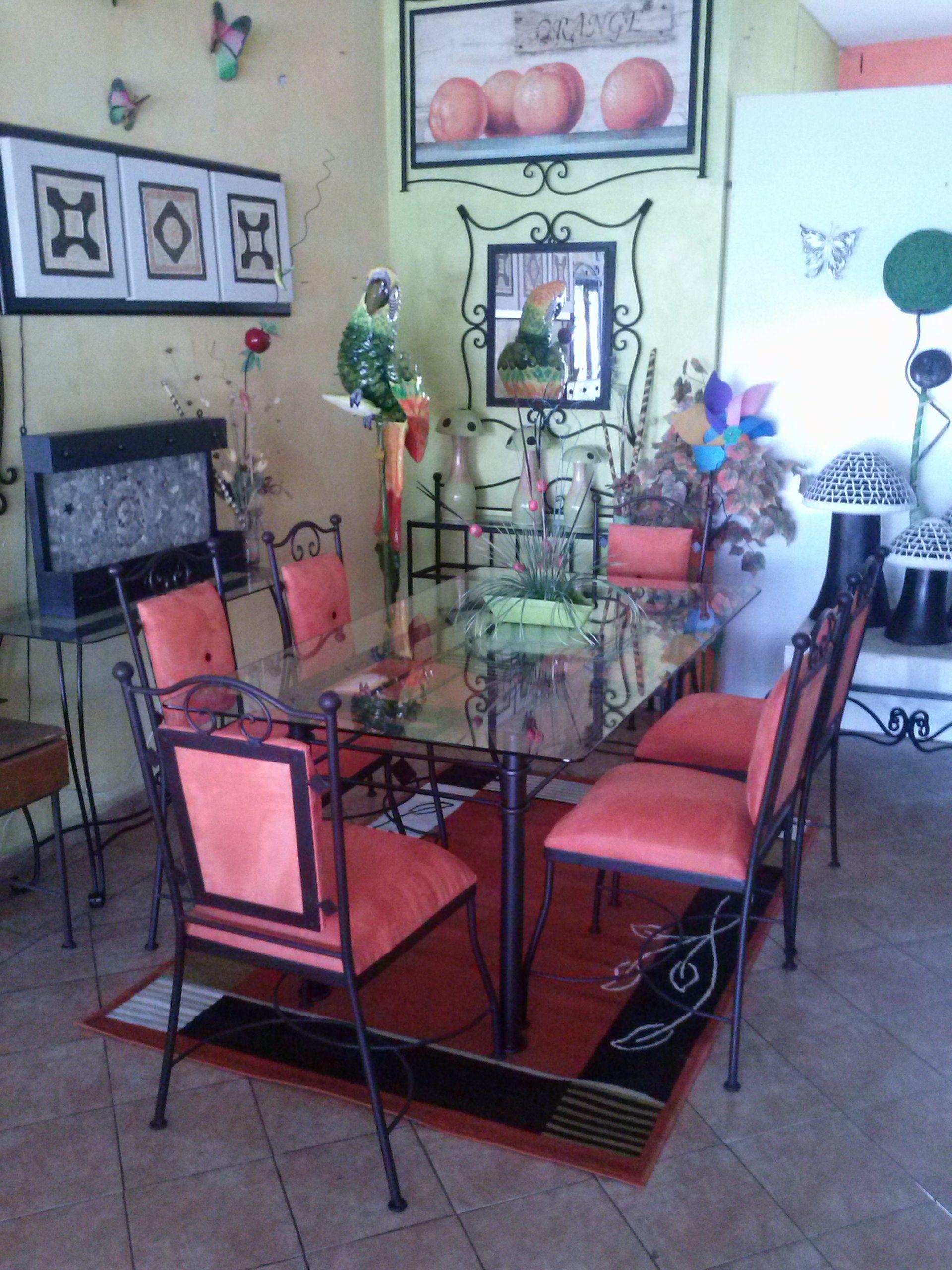 Comedor De Hierro Forjado Muebles Hierro Forjado Pinterest  # Alto Vuelo Muebles
