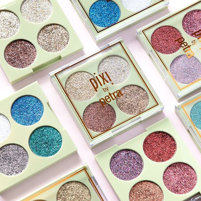 Glittery Eye Quads 🌟 A twinkling sparkle is the perfect