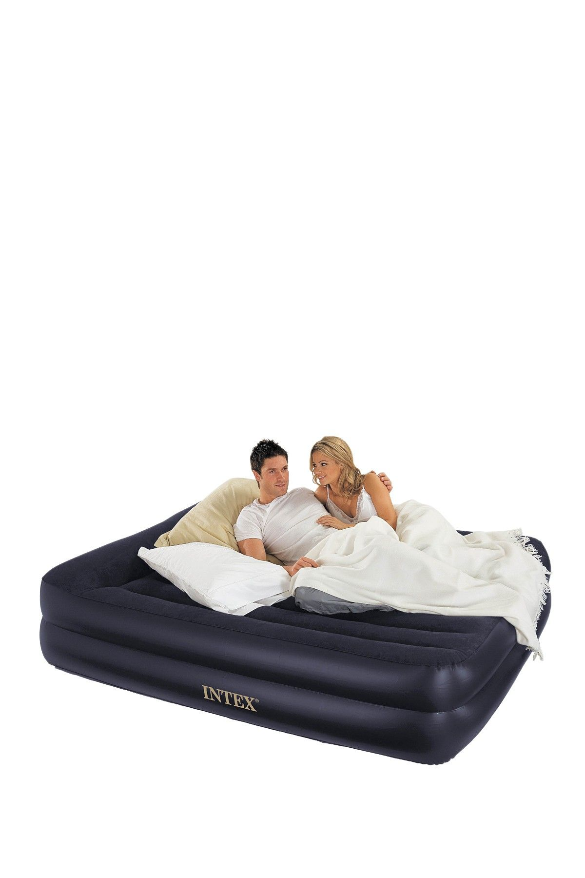 intex air mattress on air mattress for surprise guests queen airbed kit 55 air bed inflatable bed bed mattress queen airbed kit 55 air bed