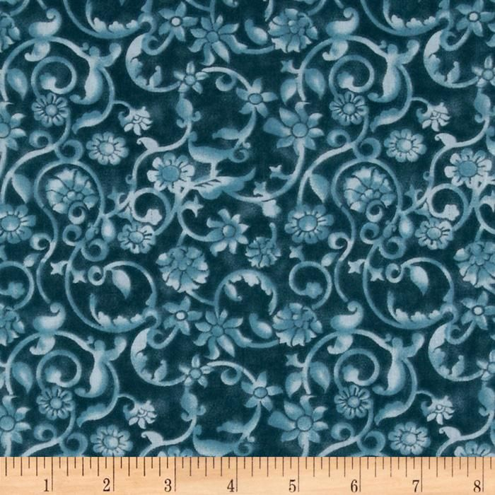 108' Tonal Scroll Quilt Backing Teal from @fabricdotcom This 108 ... : wide quilt backing fabric sale - Adamdwight.com