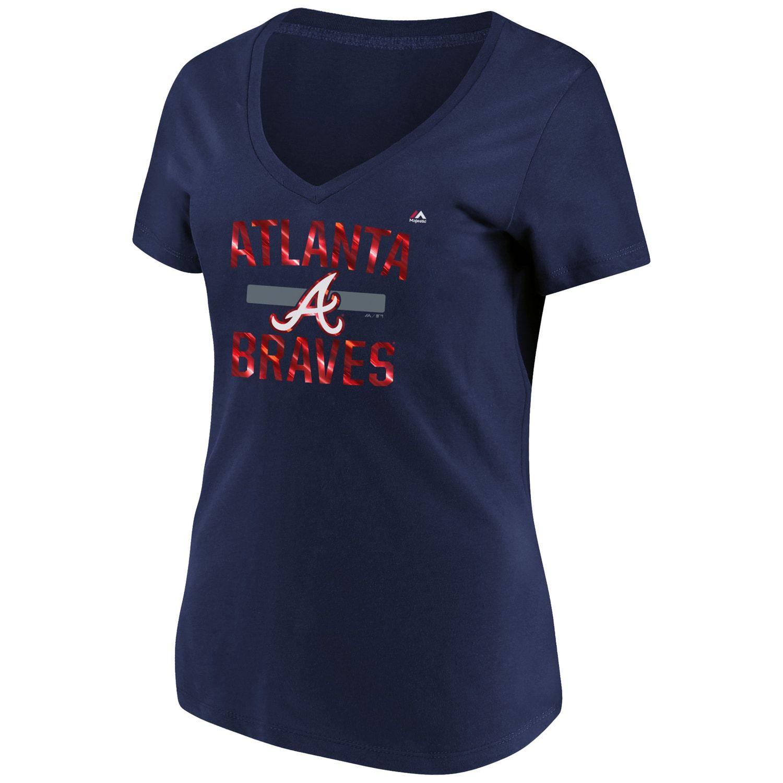 Women S Majestic Atlanta Braves Relentless Tee Atlanta Majestic Women Tee Atlanta Braves Tshirt Atlanta Braves Women