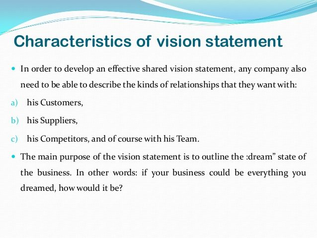 Mission Statements Welcome to