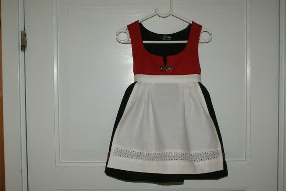 Bunad. Traditional dress from Norway for little girl