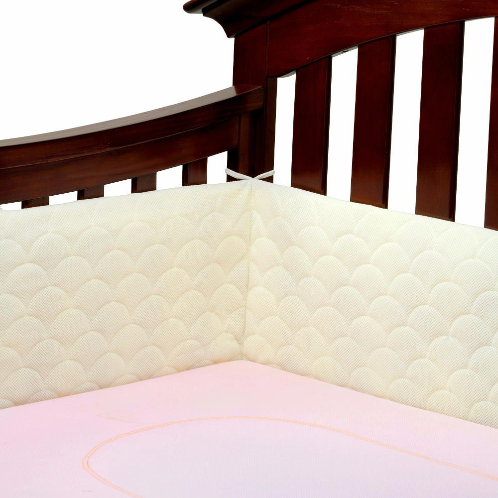 Crib bumpers babies r us - Ubimed Lifenest Breathable Padded Mesh Crib Bumper Cream