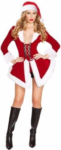 111db58215a Sexy Santa Costume Corset Dress Christmas Lingerie Mrs Claus Velvet Womens  Gift  SexySantaCostume  Dress