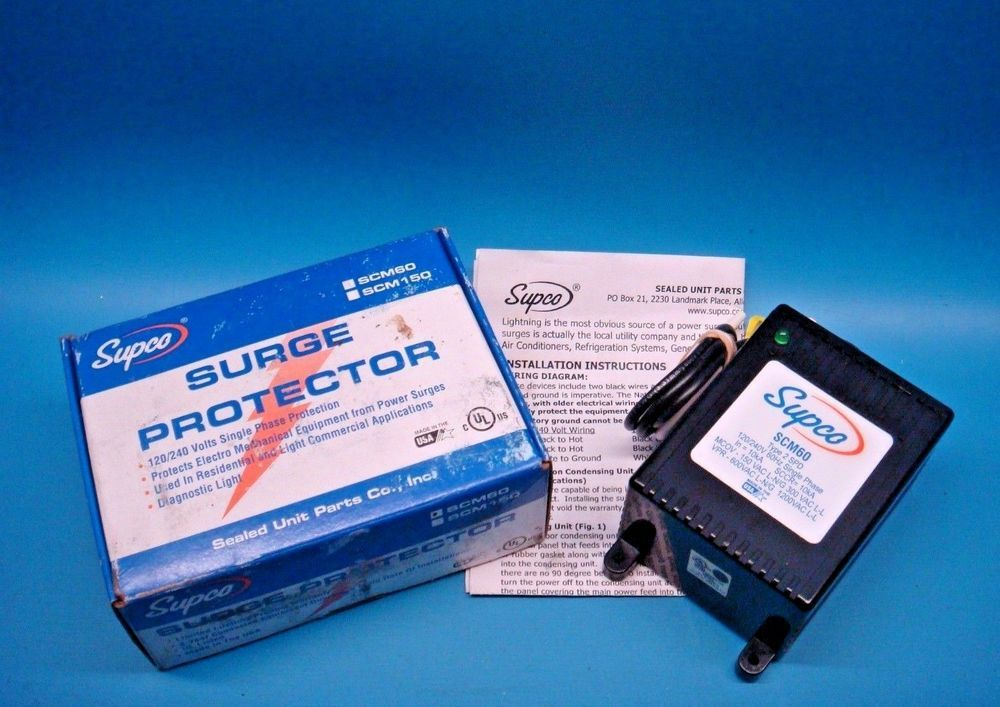 1 Supco Scm60 Residential 120 240v Surge Protector Single Phase Usa Made Supco Game Boy Advance Sp Power The Unit