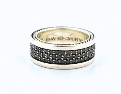 Pre Owned David Yurman Black Diamond Men S Ring David