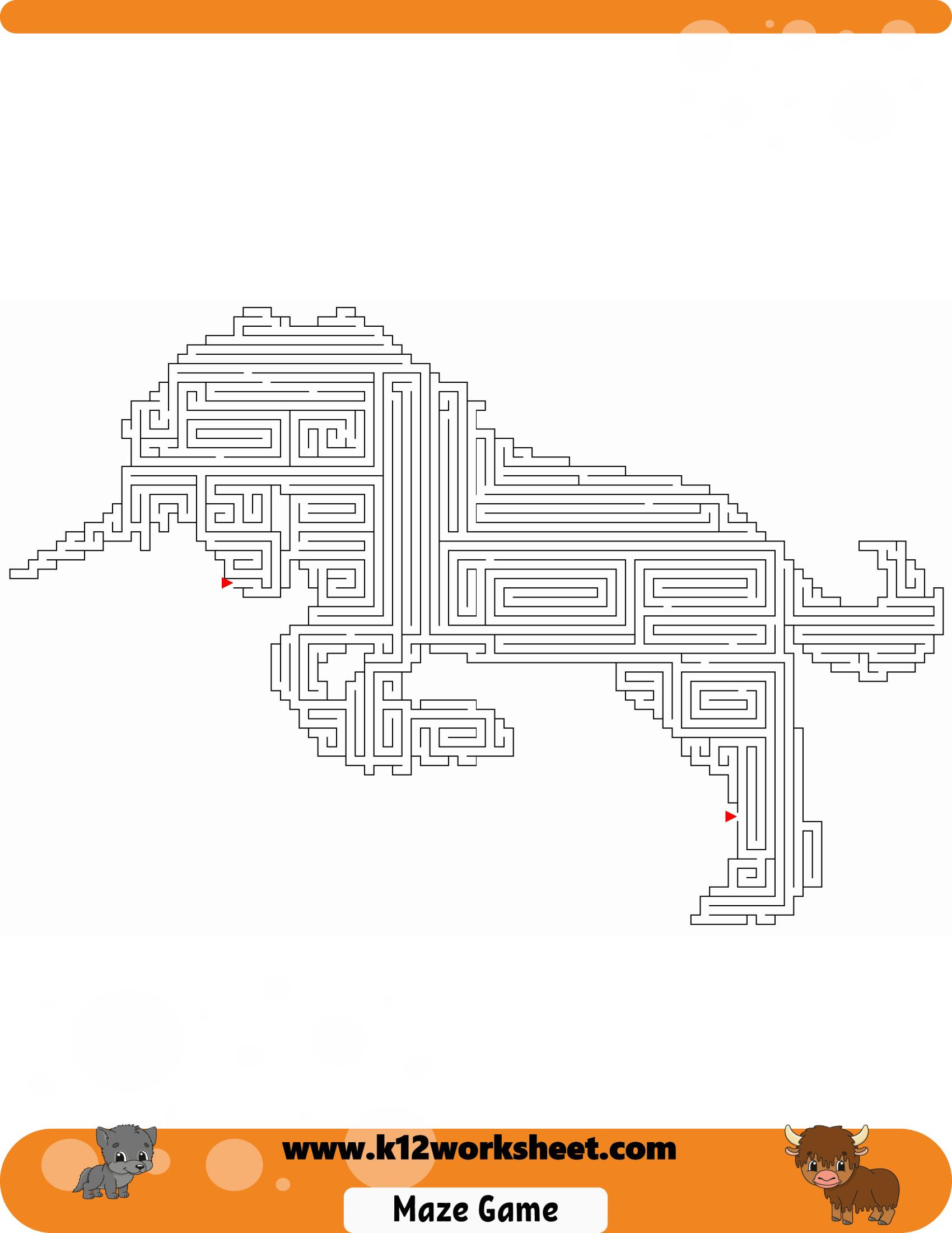 Unicorn Maze Worksheet