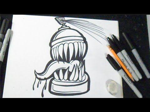 Como Dibujar Una Lata De Spray Graffiti Lata De Spray Graffiti Graffiti Dibujo