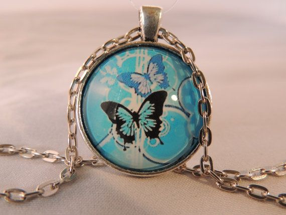 The Alhambra Collection Teal Butterfly Glass Earrings Voyageur Teal Flight of the Butterfly