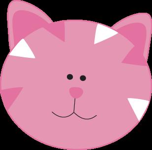 Pink Cat Face Clip Art Pink Cat Face Image Funny Cat Faces Cat Face Clip Art