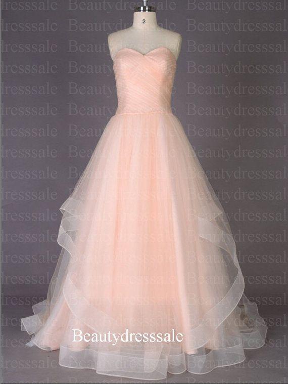 Long Chiffon Sweet Heart Peach Quinceanera Dress,Cocktail Dresses ...