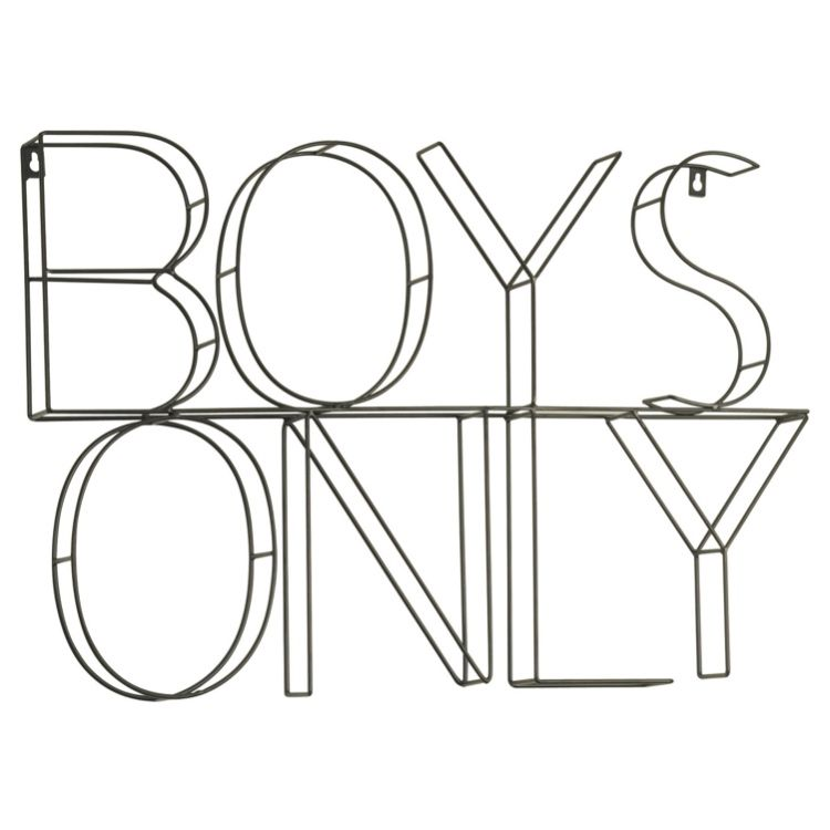 Boys Only Wire Wall Decor Pillowfort Kids Wall Decor Boys Bedroom Decor Pillow Fort