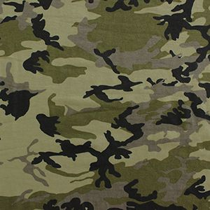 Green Black Camo Modal Cotton Spandex Knit Fabric
