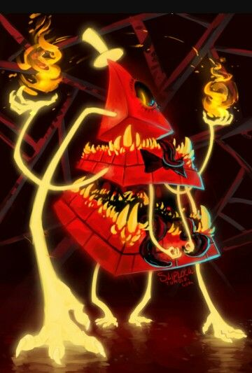 I Absolutely Love This Giant Red Bill Cipher Gravity Falls