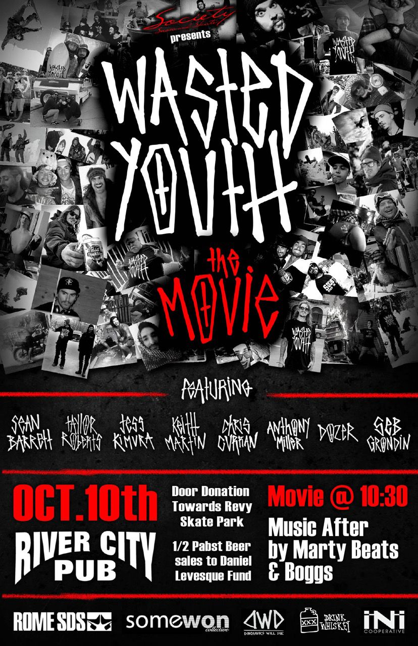 Poster design for youth - Video Revelstoke Made Wasted Youth The Movie Shred Film Released Poster Designthe Movieyouth