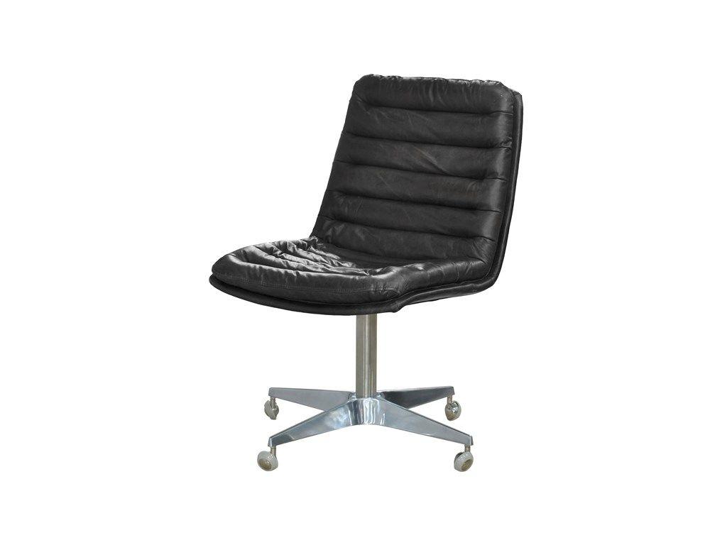 Four Hands Home Office Malibu Desk Chair-Rider Black