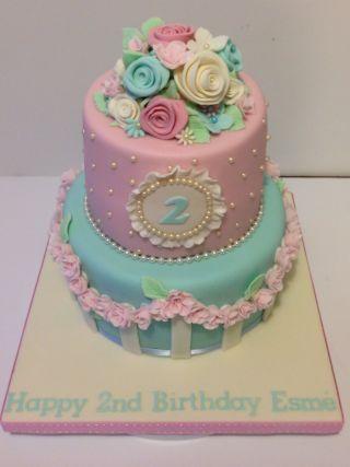 Remarkable Shabby Chic Birthday Cake Cake By The Rosebud Cake Company Personalised Birthday Cards Vishlily Jamesorg