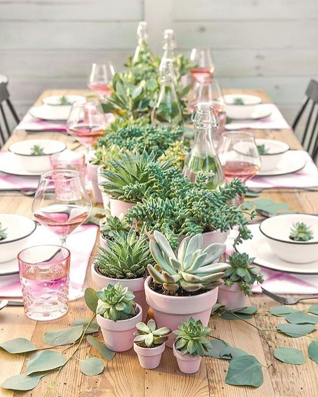 Darling summer pink and green tablescape perfect for Mother's Day or a Baby Shower! #ispydiy #tablescape #mothersday #succulents #pink #partyinspo #flashesofdelight #thehappynow #livethelittlethings #creativeaffairs #partyideas #sendomatic #liveauthentic #pursuepretty #cactuswithflowers