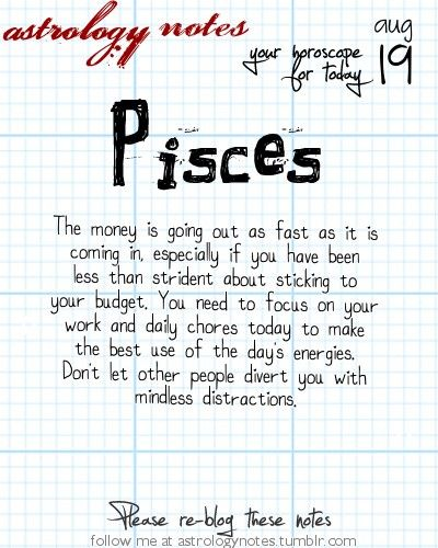 Pisces Astrology Note: Seen tomorrow's horoscope? Visit iFate com