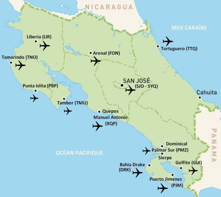 Carte Amerique Du Sud Aeroport.Carte Aeroports Costa Rica Costa Rica En 2019 Costa Rica