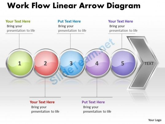 business powerpoint templates work flow linear arrow diagram sales