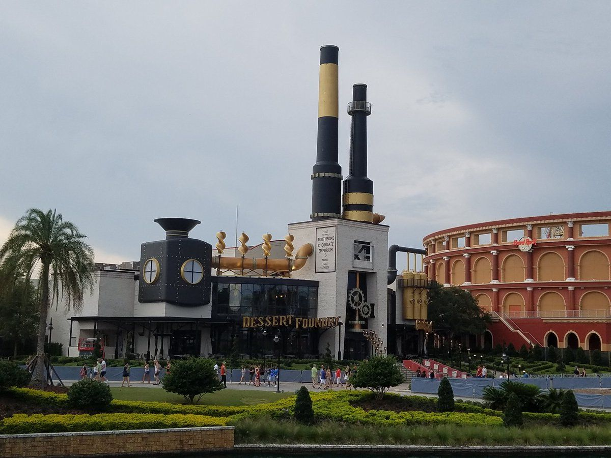 Outside view of the steampunk Toothsome Chocolate Emporium & Savory ...