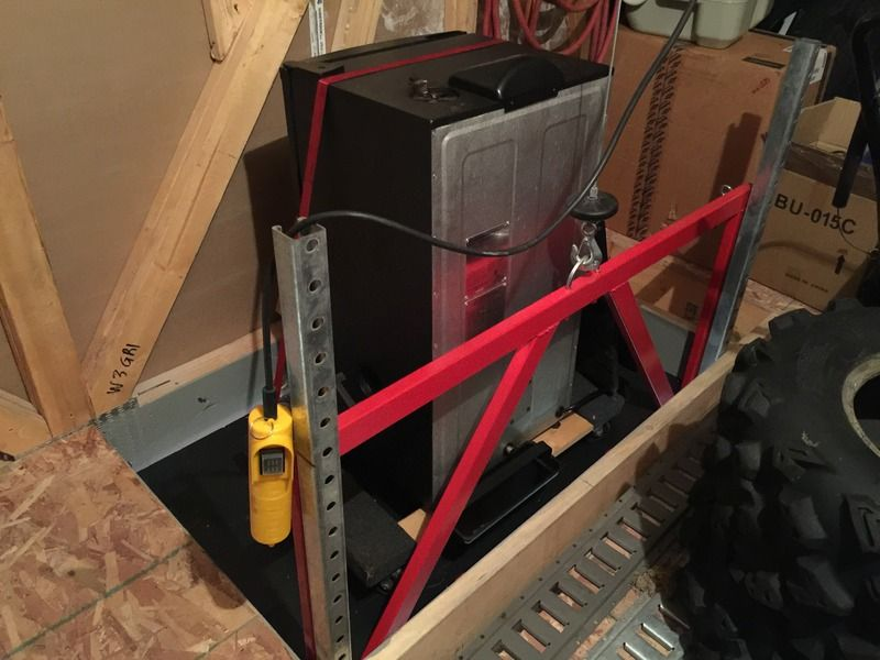 My Diy Attic Lift Video Page 3 The Garage Journal
