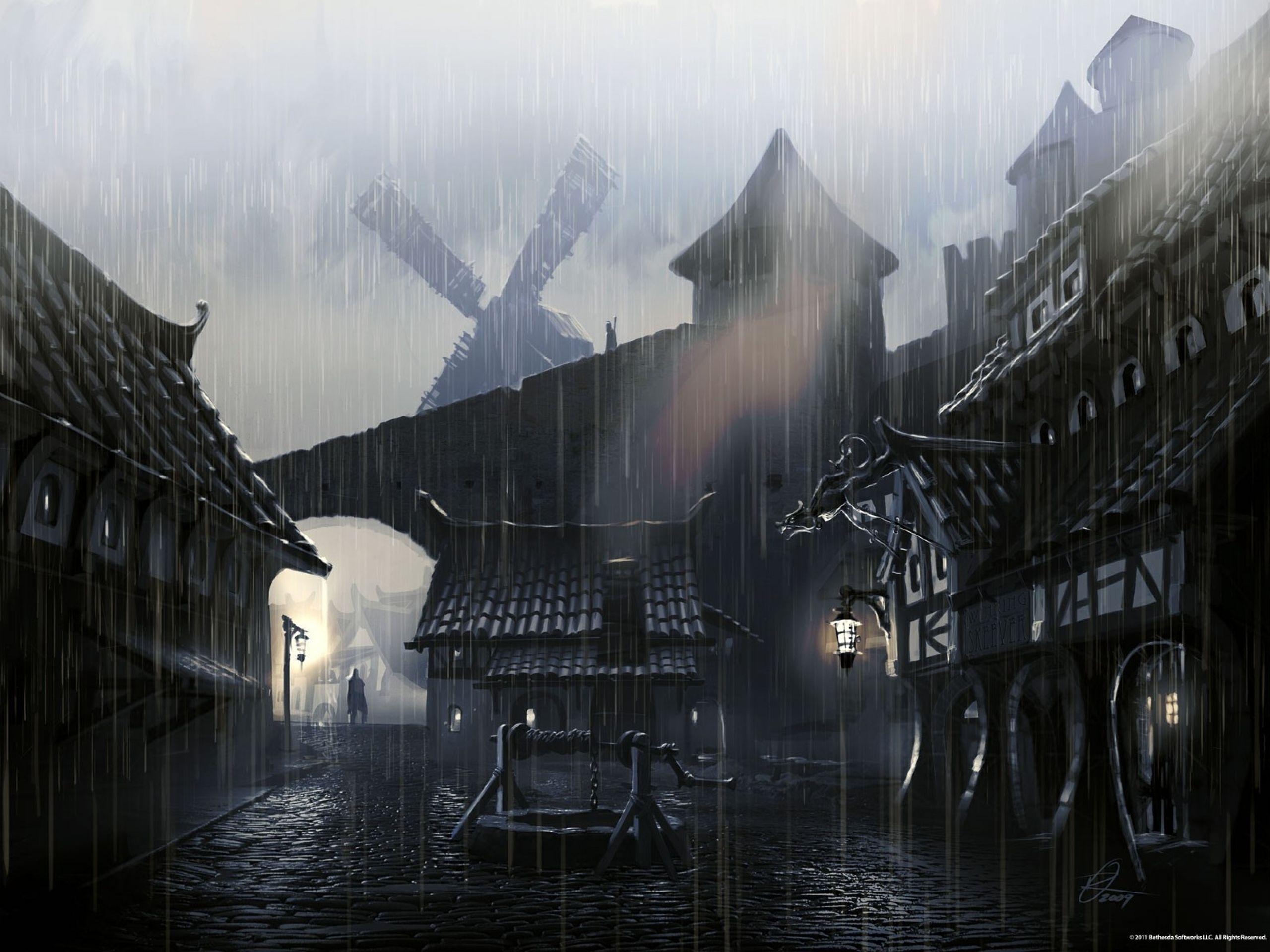 Skyrim Concept Art Wallpaper Hd