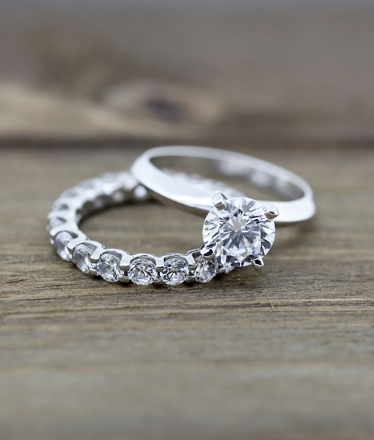 Tiffany Knife Edge Engagement Ring And Oasis Eternity Band A