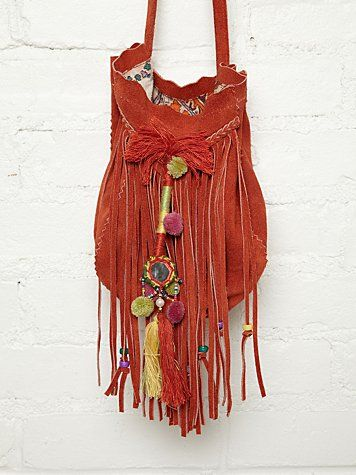 a0e832aa5210 Free People. Suede crossbody fringe bag with colorful embroidered  detailing