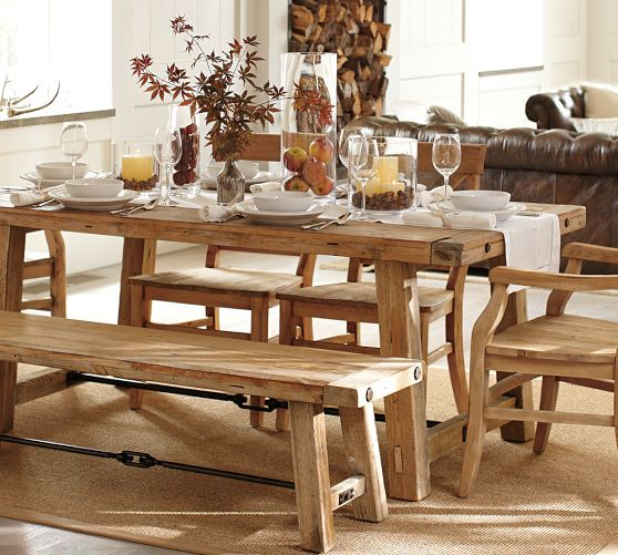 benchwright dining table farmhouse