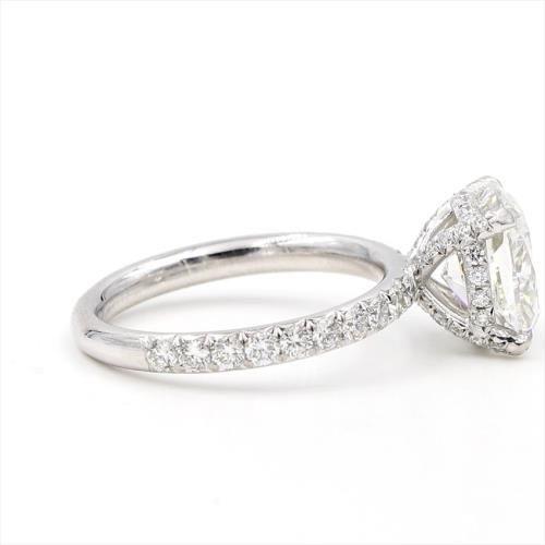 French Cut Diamond Basket Engagement Setting 2mm In 2019 Wedding