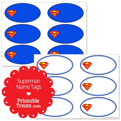 Superman Logo Printable Template