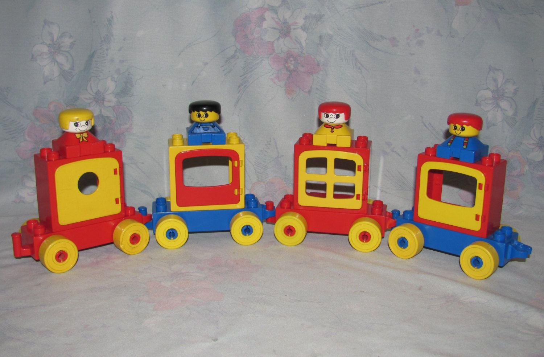 Reserved Vintage Lego Duplo Lot Train Cars Window Bricks 35