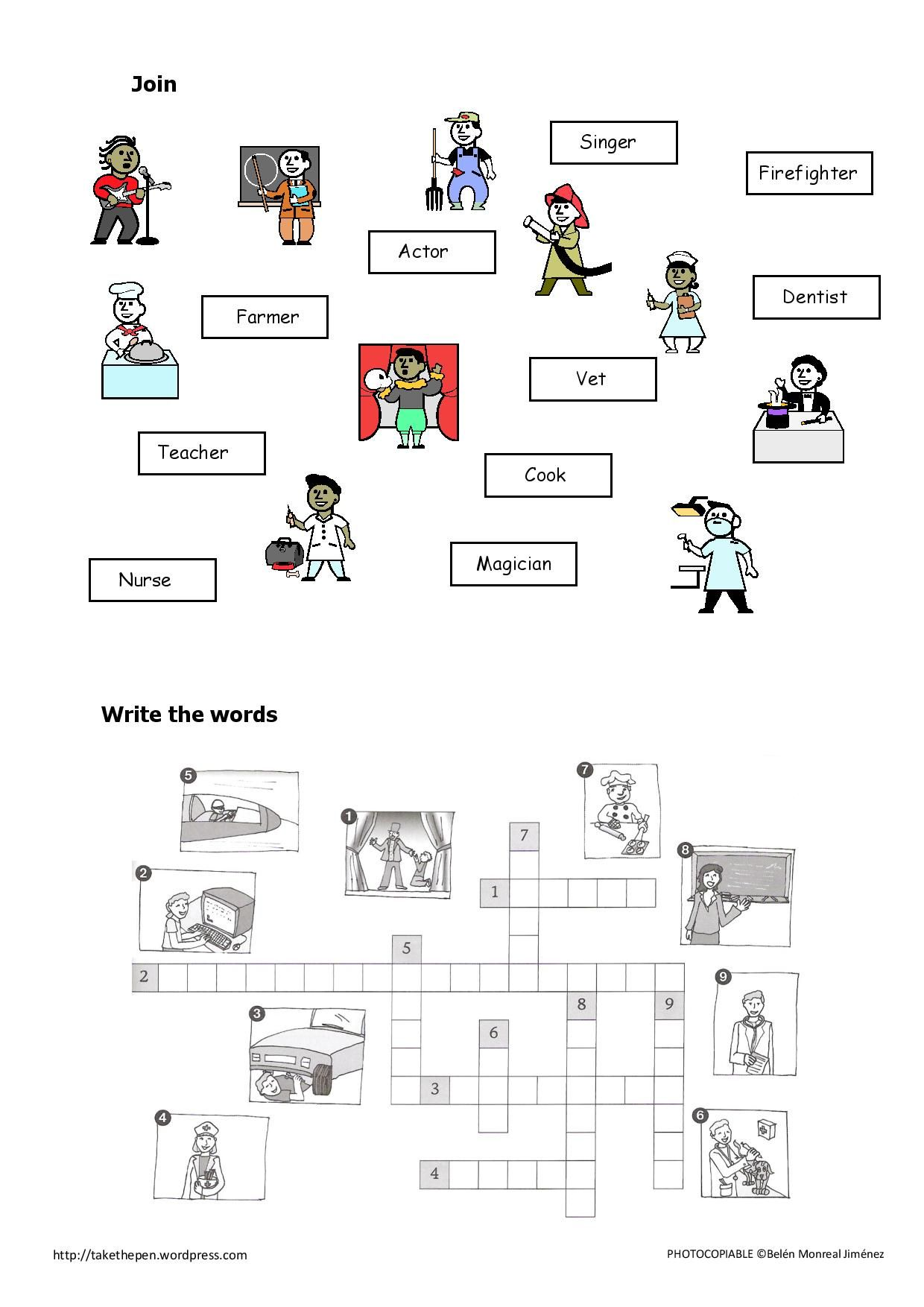 Jobs Crossword Race Writing Vocabulary Vocabulary Worksheets [ 1754 x 1240 Pixel ]