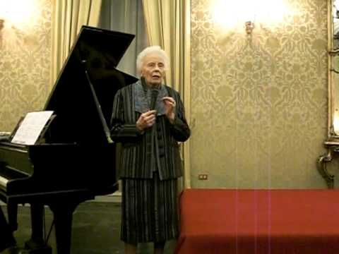 Magda Olivero 99 years (now 103!) sings Zandonai's Francesca.