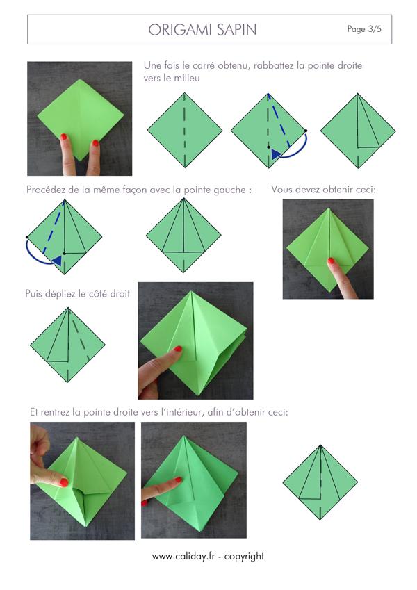 tutoriel origami sapin noel | Origami sapin de noel, Origami noel