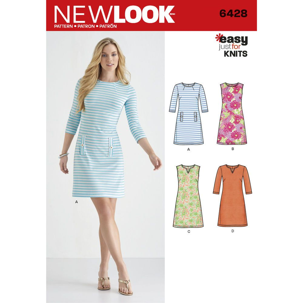 New Look 6428, my favorite basic. check if I have this in Jalie ...