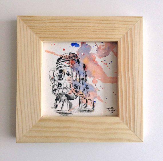 Star Wars R2D2 Illustration Art Original Watercolor by idillard, $35.00