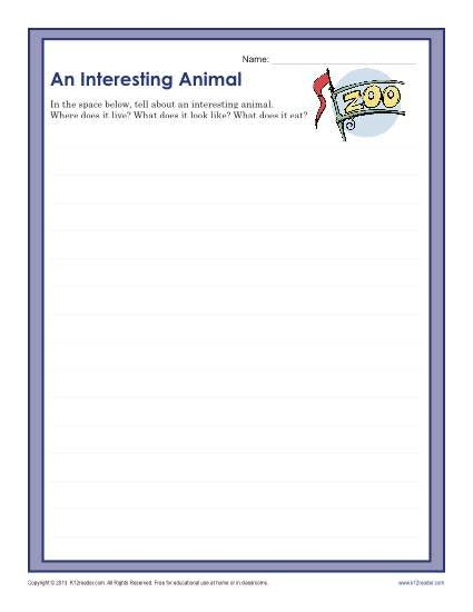 An Interesting Animal Pinterest Prompts Worksheets And