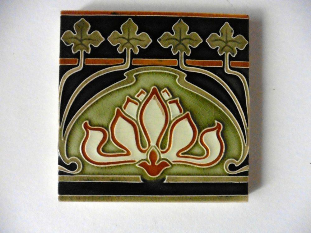 Jugendstil Fliese Villeroy Boch Mettlach Art Nouveau Tiles