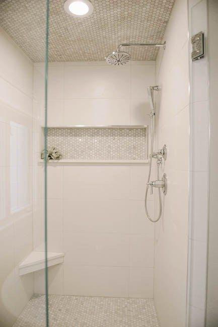 Pin by nancy maunu on decor in 2019 bathroom small - White bathroom tile ideas ...