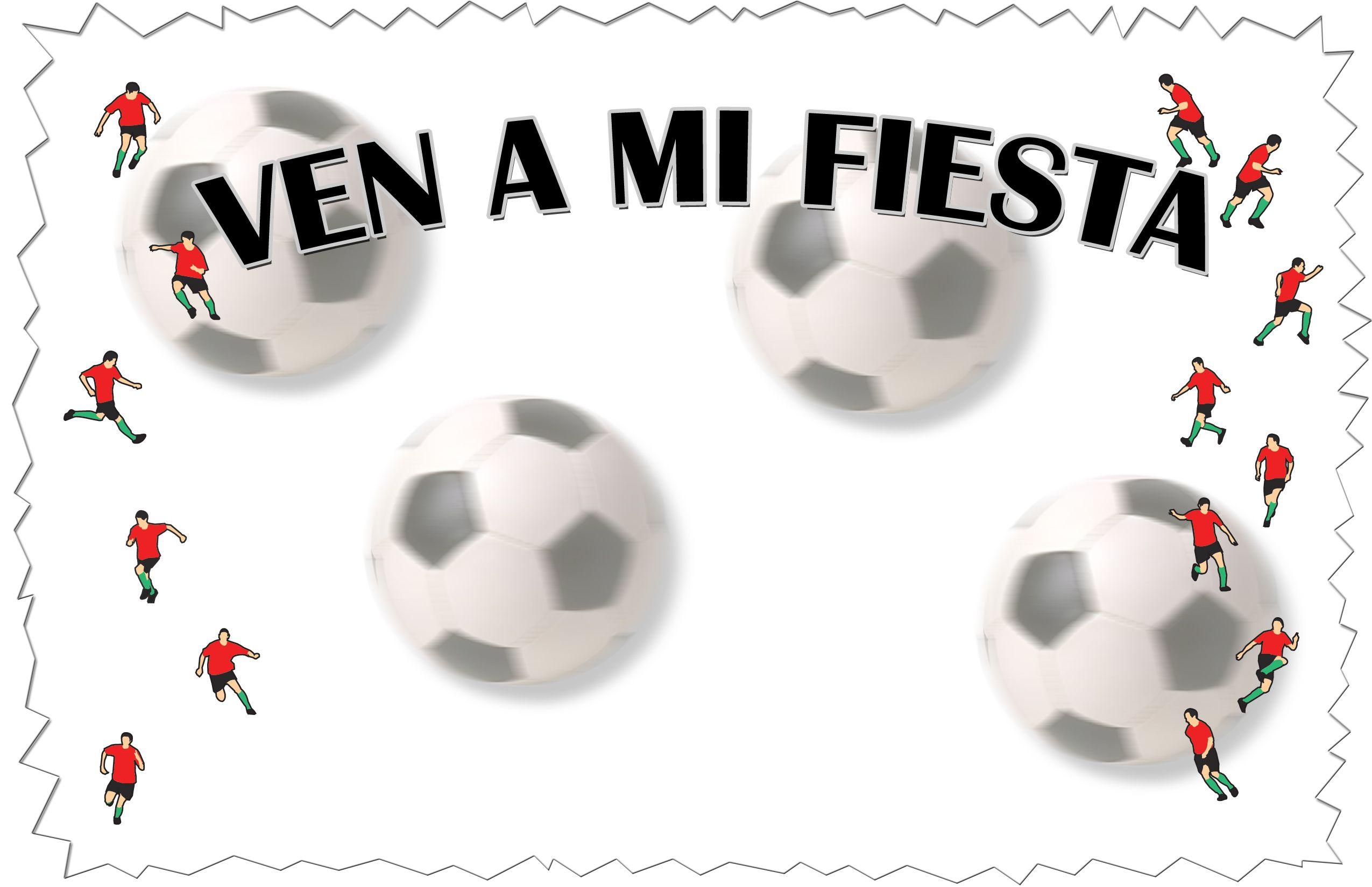 Tarjetas De Invitación Cumpleaños Motivo Futbol Para