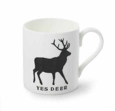Yes deer bone china mug -