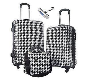 Heys 2 Pc Hardside Spinner Luggage Set With Vanity Case And Scale Qvc Com Spinner Luggage Sets Luggage Sets Stylish Luggage