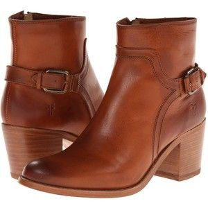 Frye Janis Shield Short (Cognac Smooth Vintage Leather) Cowboy Boots