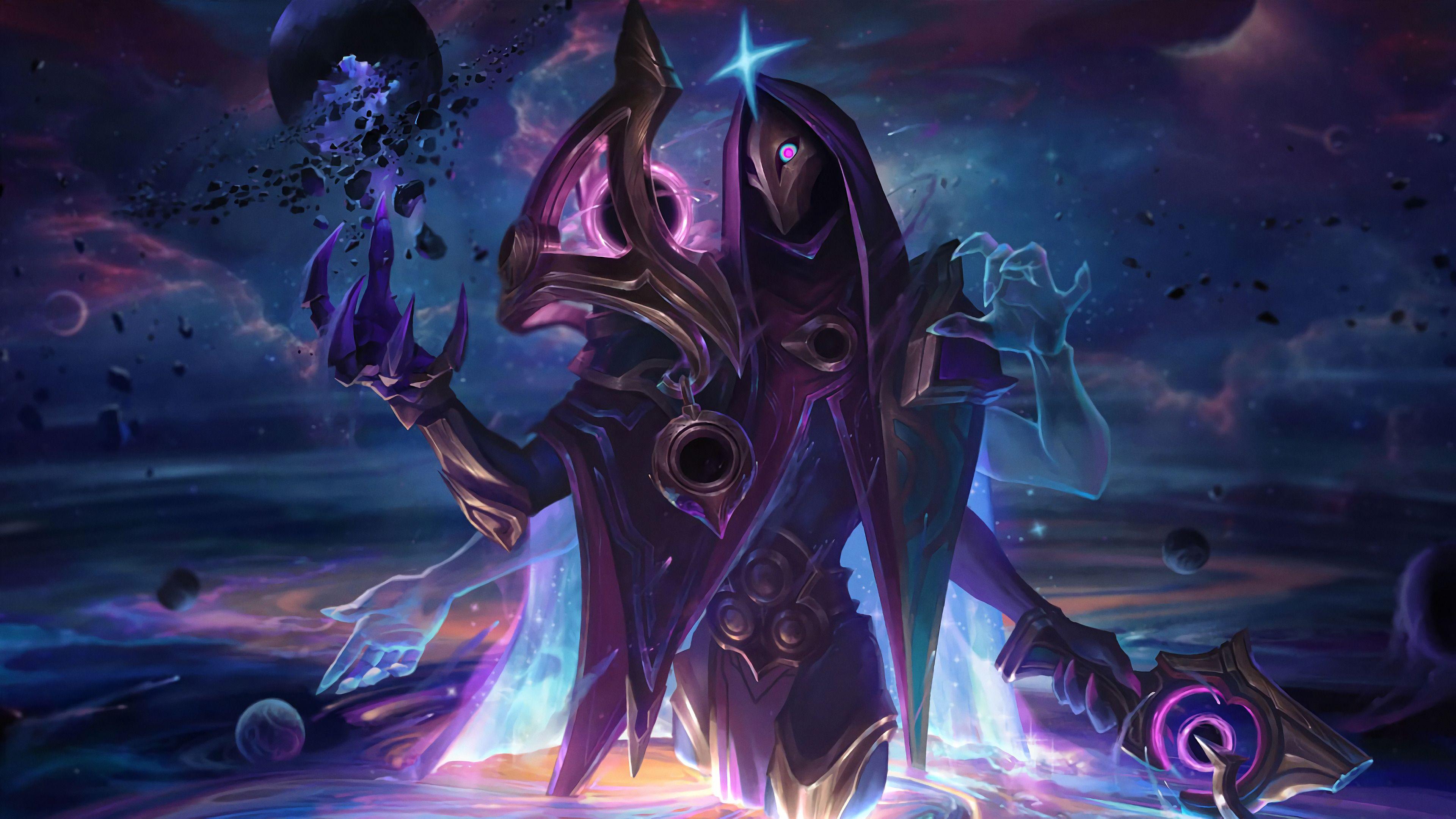 League Of Legends Dark Cosmic Jhin Wallpaper Https Ift Tt 32mve2l League Of Legends Art Karma