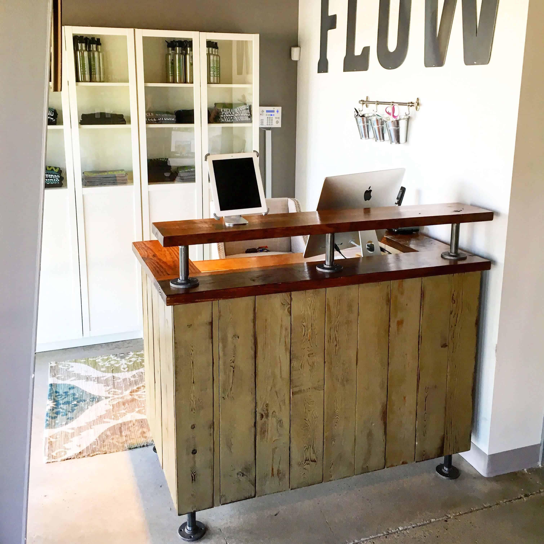 Flow Cycle Studio Reception Desk Receptionist Desk Reception